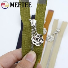 20/25/30-/.. Wallet Garment-Accessories Sewing-Bags Open-Zip Meetee Metal Zipper Pocket