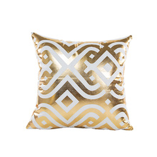 new trendy sofa seat cushion cover 45*45cm no inner golden hot stamping capa almofada home pillow covers decorative X10