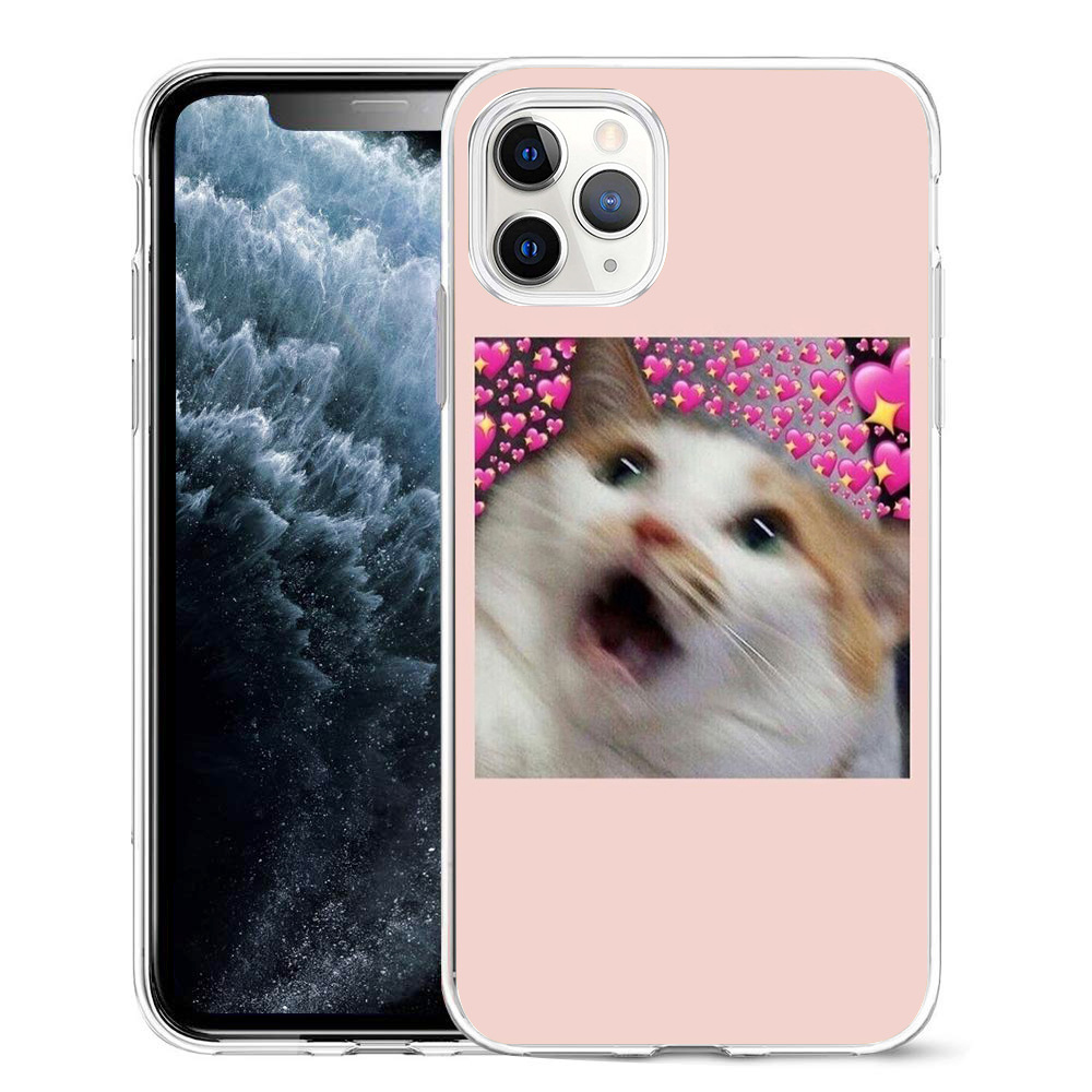Super Cute Cats Printed Silicone Phone Case For iPhone 12 Pro
