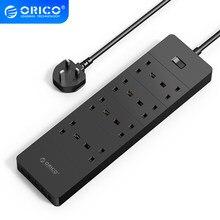 ORICO – prise de courant avec prise électrique USB, prise de courant 8AC 6AC, pour le bureau et la maison, 5 ports USB