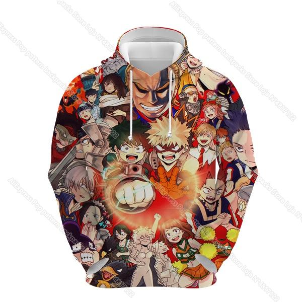 Купить my hero academia hoodies women 3d brand sweatshirts boy jackets