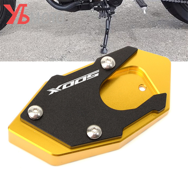 Logo 500X Motorcycle Side Stand Pad Enlargement Plate  for HONDA CB500X CB 500X 2017 2018 2019 2020 2021 Kickstand Extension
