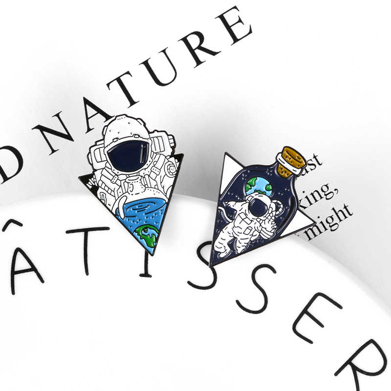 Nhà du hành vũ trụ cho bé pin Thơm Ngon Không Gian nước men pin phù hiệu Áo Sơ Mi túi Món quà trang sức Tuyệt Vời không gian du lịch Lapel Pin thổ cẩm