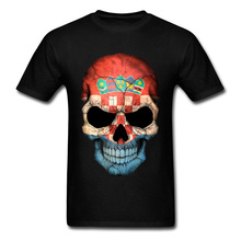 Croatian Country Flag Skull Mens 3D Print T-Shirts Boys T-Shirt Big Size XXL Funny Design Dress Own T Shirt
