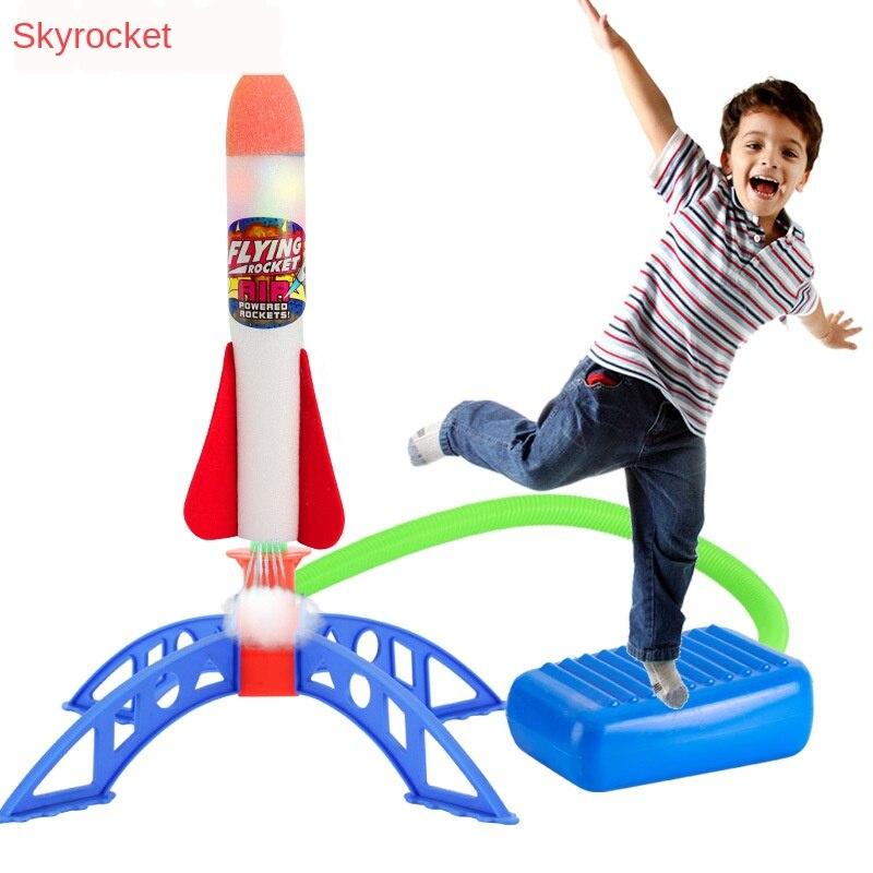 Air pressé Stomp fusée pédale jeux Sports de plein Air enfants ligue lanceurs étape pompe quilles enfants pied famille jeu de société jouet