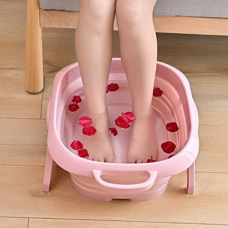 Creativity Folding Foot Washing Bucket Foot Barrel Household Sole Massage Comfortable Foot Bath Portable Storage Laundry Tub