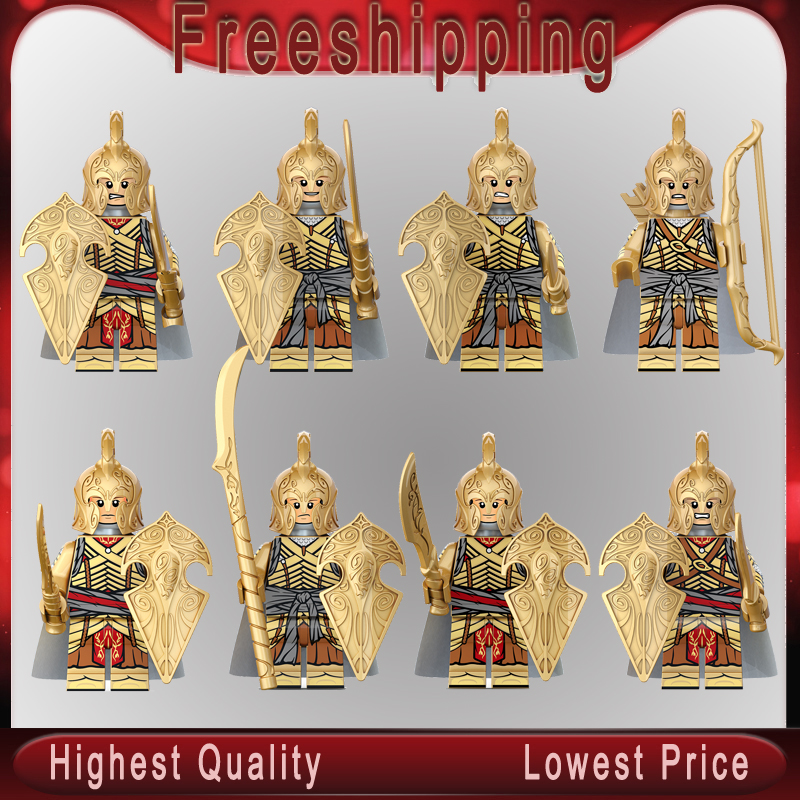 Lord Of The Rings Noldo Warrior Golodh Legoeinglys MINIFIGURed Building Blocks Figures Bricks Model Toys For Children Gift