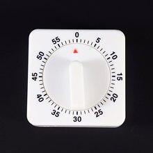 Таймер для кухни 60 минут будильник с обратным отсчетом белый