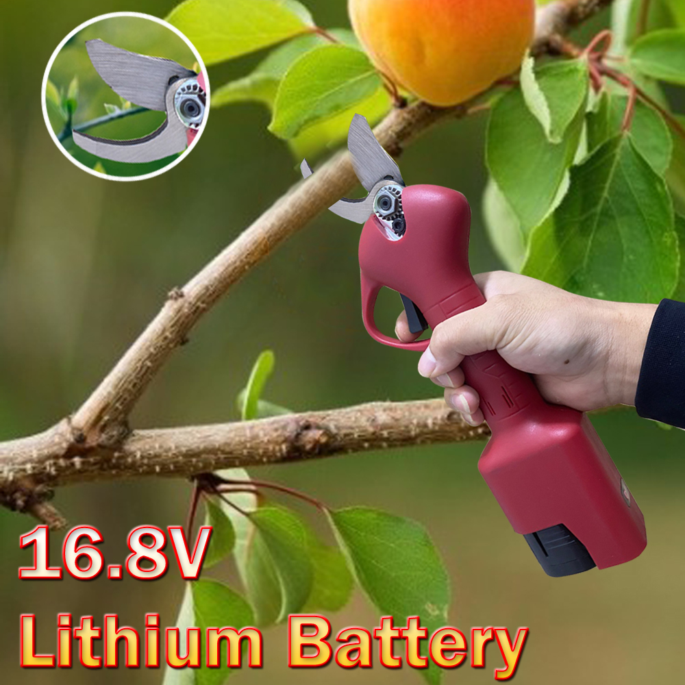 2 5cm 16 8V Electric Pruning Shears Used for Pruning Fruit Trees  amp Beautify The Environment with Lithium Batteries red color