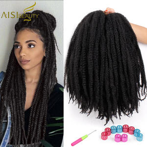 Hair Synthetic Hair-Extensions Braiding-Hair Crochet Bulk Black Ombre 18inch Brown Red-Colors-Available