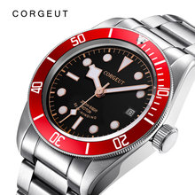 Mechanical-Watch Wrist-Watches Corgeut Swim-Clock Stainless-Steel Military Automatic