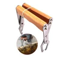 1 pçs clipe de madeira para abelha pente fundação ferramentas quadro titular grip ferramenta pinça captura apicultura apicultor beekeping abelas