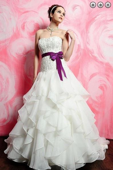 Free Shipping Long Bandage Ball Organza Vestido De Noiva Renda 2016 New Fashionable Sexy Romantic Wedding Dress Bridal Gowns