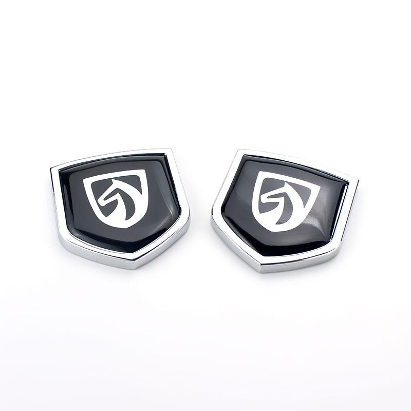 Universal Black Car Auto Side Metal RS Logo Emblem Badge Sticker Decal