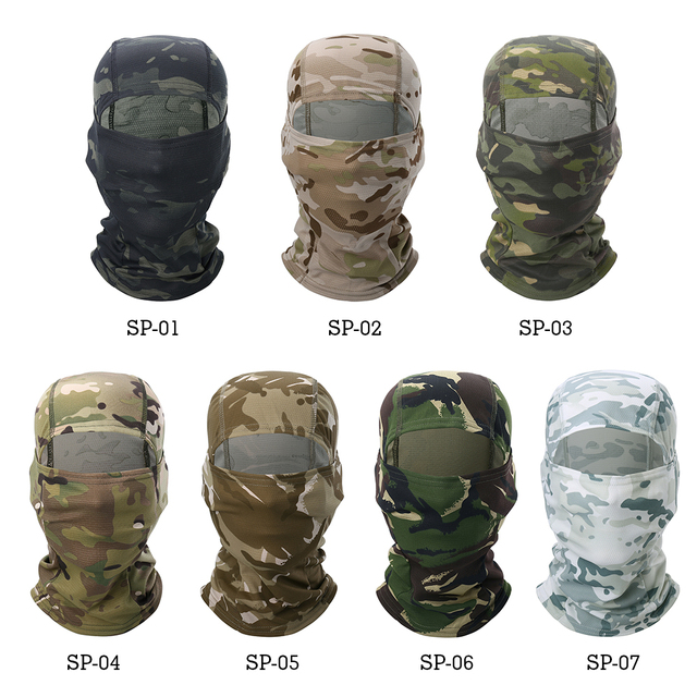Multicam Camouflage Balaclava Full Face Scarf Mask Hiking Cycling Hunting Army Bike Military Head Cover Tactical Airsoft Cap Men 2