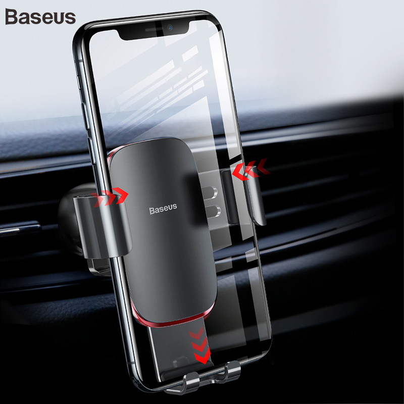 Baseus Universal Car Phone Holder For IPhone X Samsung S9 Gravity Holder For Mobile Phone In Car Air Vent Mount Holder Supporto
