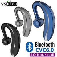 Q10 беспроводной наушник для вождения, ушные крючки, Bluetooth наушники, 210 мА/ч, одиночный, Handfree, с микрофоном, для Iphone11, samsung, HUAWEI, все