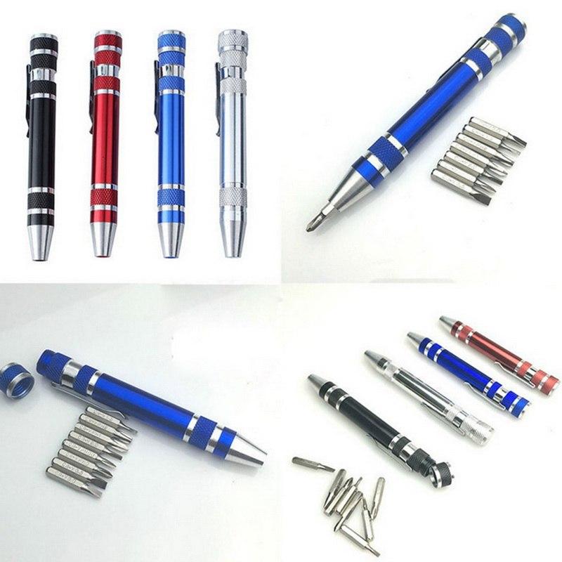 8 in 1 Pen Precision Screwdriver Set Repair Tool Kit For Mobile phone Screwdriver Set Multifunction Portable Hand Tool