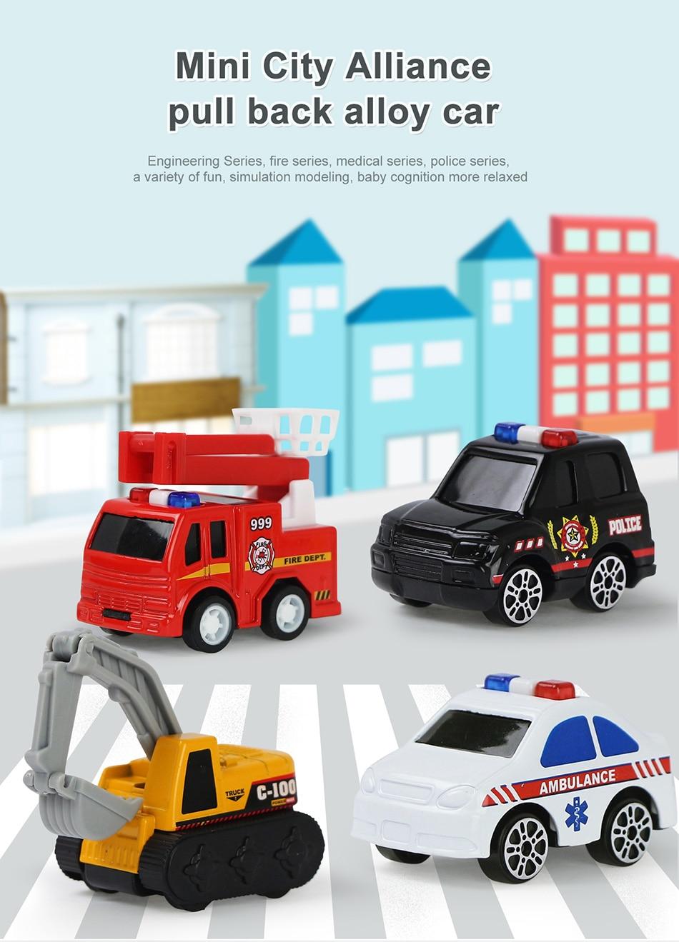 engenharia, ambulância, veículo diecast educacional para meninos, presentes