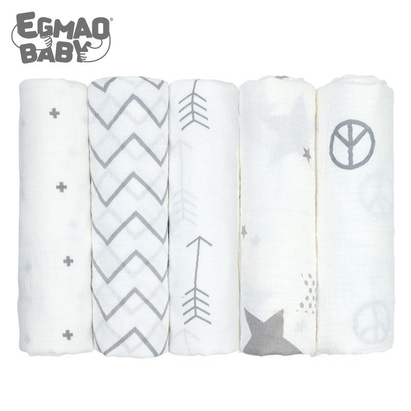 3Pcs Muslin 100% Cotton Baby Swaddles Soft Newborn Blankets Bath Gauze Infant Wrap Sleepsack Stroller Cover Play Mat