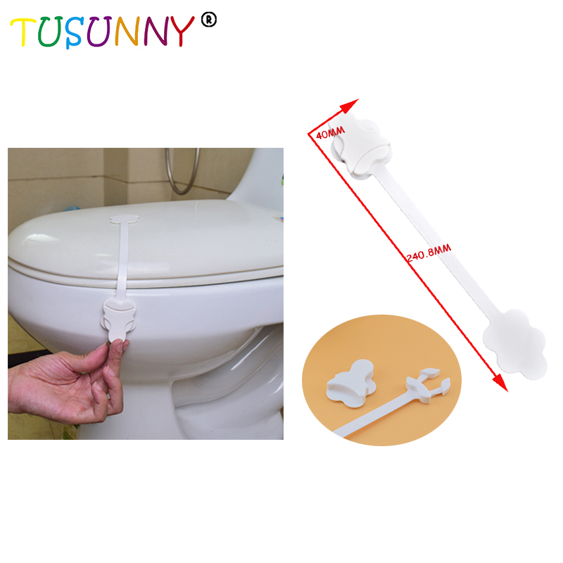 TUSUNNY 1PC Children Protection PP Safety Plastic Lengthen Toilet Door Lock Baby Safety Toilet Locks For Kid 40*240.8mm