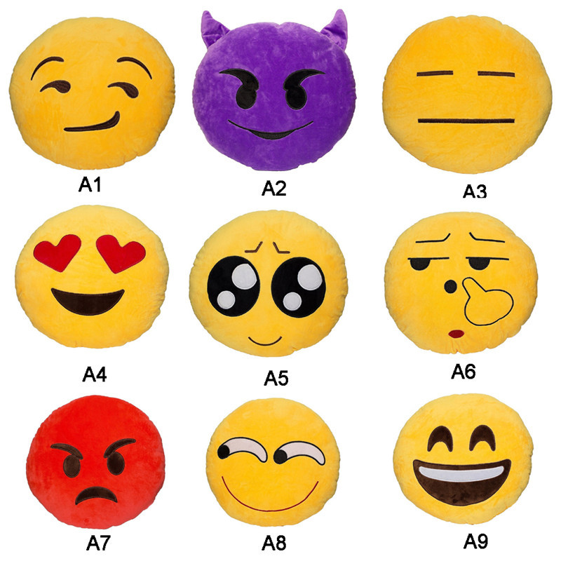 Emoji Pillow QQ Smiley Emotion Cushion For Sofa Car Seat Home Decorative Cushions Stuffed Plush Toy Q1