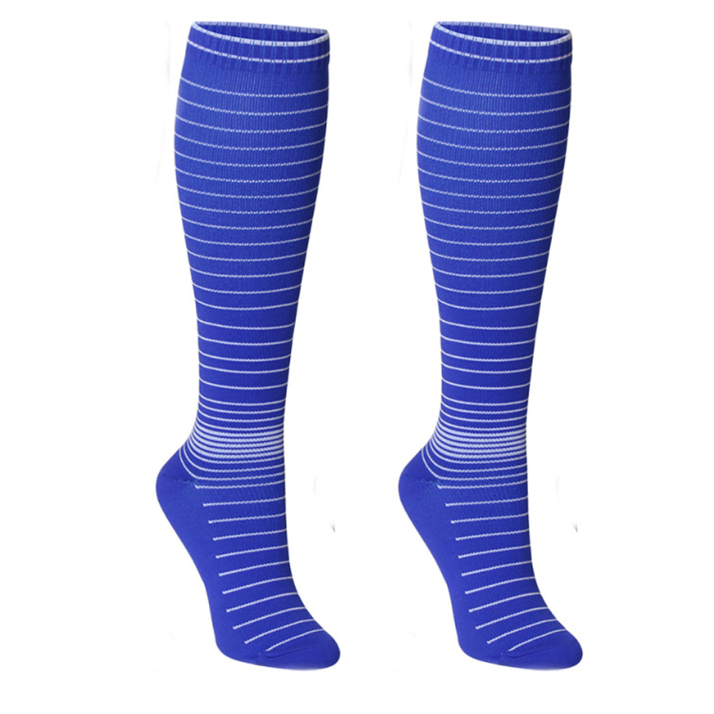 Men Women Athletic Nurses Compression Socks Pregnancy Stretch Running Breathable Striped Professional Outdoor Cycling Fashion