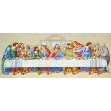 Jesus The Last Supper DIY Cross Stitch Embroidery 14CT Kits Craft Needlework Set Cotton Thread Printed Canvas Home Decoration