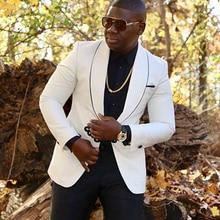 White African Men Suit Jacket for Wedding One Piece Male Fashion Blazer Slim Fit Coat