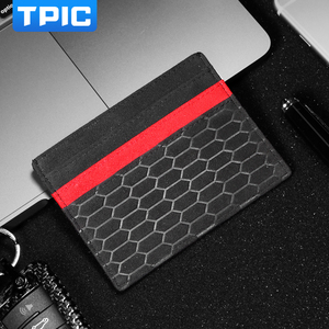 Image 1 - Alcantara Bank Credit ID Card Holder Card Package Coin Purse Men Wallet Thin Case For Mercedes W204 BMW E46 E90 Audi Mustang