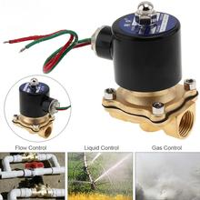цена на 1/2 AC 220V Brass Electric Solenoid Valve Pneumatic Valve for Water / Oil / Gas