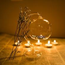 Декор прозрачный стеклянный трубчатый подсвечник-шар держатель подсвечник Светильник Горячий орнамент фестиваль Рождественская вечеринка Декоративный Подсвечник