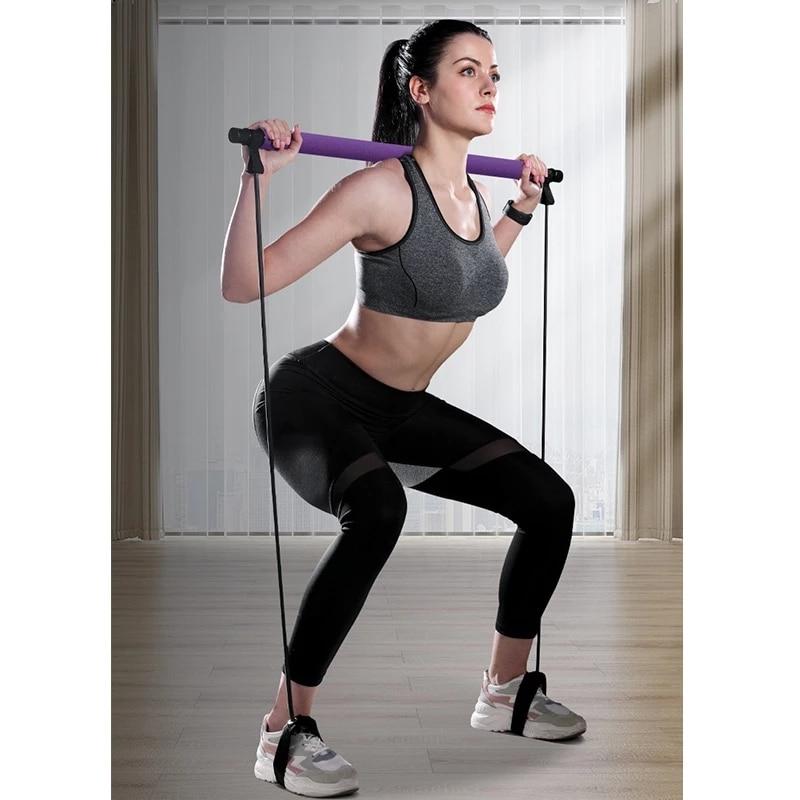Эспандеры для йоги, кроссфита, тренажер, тянущаяся веревка, портативный тренажер для спортзала, пилатеса, бара, тренажер, эластичные ленты для фитнеса, оборудование-4