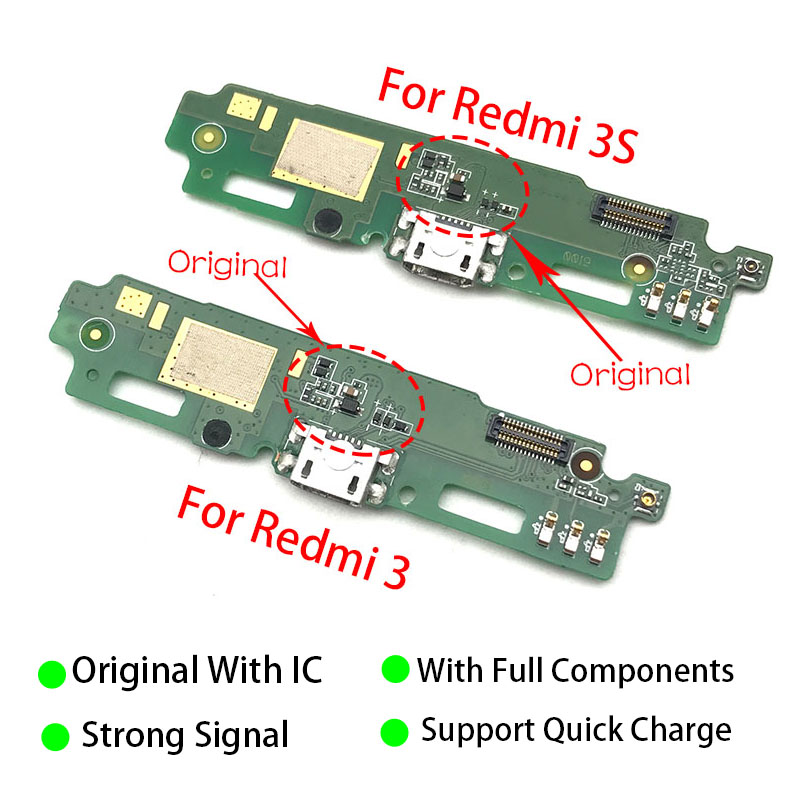 New For Xiaomi Redmi 3 3S 4X Charging Dock Port USB Charger Connector Plug PCB Mic Microphone Board Flex Ribbon Cable