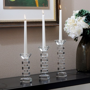 New Crystal Candle Holder Nordic Simple Wedding Table Core Candle Holder Glass Kandelaar Home Decor Candle Holder KK60ZT