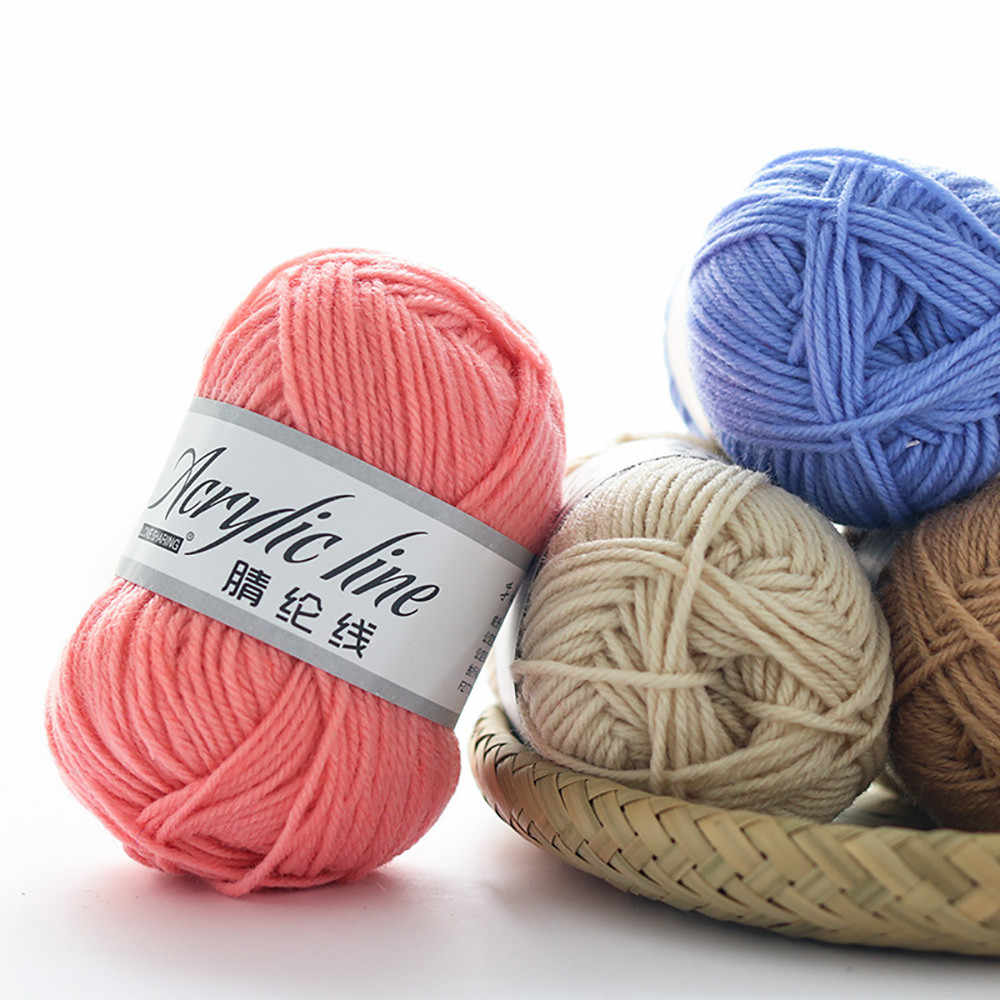 50g Acrylic Wool Yarn Roving Scarf Knit Thickness Warm Blanket Crochet Hat Yarn Household DIY Knitting Children Hand Yarns