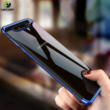 Keajor Case For Samsung Galaxy A80 A90 A60 Luxury Clear Plating Cover Soft Silicon Bumper A 80 90 60 Phone