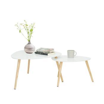 Gniazdowania stoliki do kawy białe drewniane okrągłe stoły do salonu stoły zestaw stoliki biurko tanie i dobre opinie Brangdy Montaż Meble do domu Meble do salonu Europa i ameryka Nowoczesne Trójkąt Panel white small sofa table