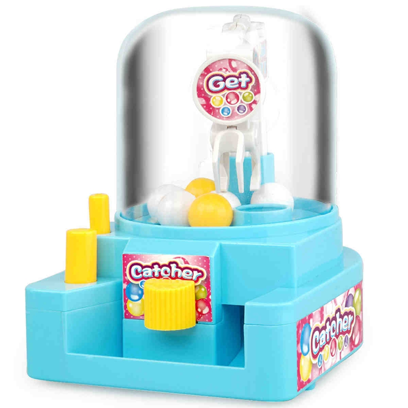 Mini Gashapon Machine Music Two-Color Mixed Children's Game Machine  Catching Doll Early Education Puzzle Toys