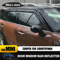 New 4pcs Window Rain Guard Acrylic window Eyebrow Only for MINI COOPER F60 countryman car styling outdoor decoration accessories