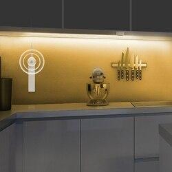 DC 5 в PIR датчик движения светодиодный светильник для шкафа 1 м 2 м 3 м лента под кровать лампа для шкафа шкаф для лестниц коридора Питание от бат...
