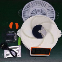 Solar Powered Electric Fly Trap with Trapping Food USB Charging Flycatcher Artifact Catcher XH8Z