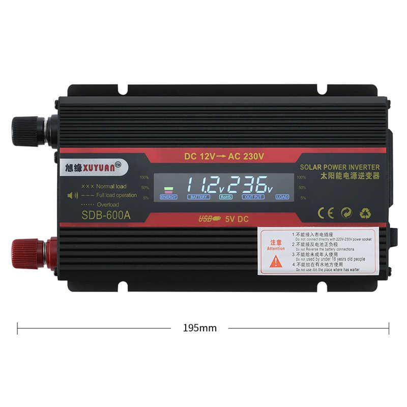 Güneş güç inverteri 3000/4000/6000W 50Hz DC12/24V AC110/220V otomatik araç invertörü LCD ekran gerilim trafosu dönüştürücü