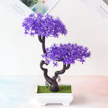 Artificial Office Decor Gift Plant Bonsai Potted Mini Simulation Pine Tree Home New 2020(China)