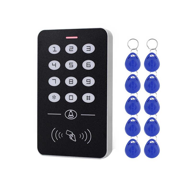 AMS-DC12V Elektronik Access Control Keypad RFID Card Reader Access Controller dengan Bel Pintu Lampu Latar untuk Keamanan Pintu Kunci SY