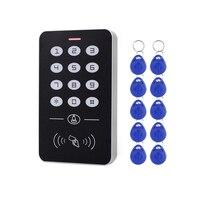 AMS-DC12V Elektronische Access Control Keypad RFID Card Reader Access Controller mit Tür Glocke Hintergrundbeleuchtung für Tür Sicherheit Lock Sy