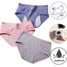 Women Underwear Menstrual Panties Leak Proof Incontinence Sexy Pants Cotton Briefs High Waist Warm Female