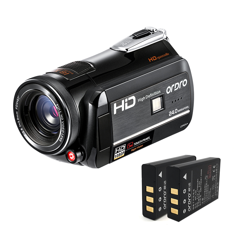 ORDRO Digital Video Camera 1080P Full HD Camcorder WiFi Infrared Night Shot IR 30fps 18X Digital Zoom D395 With Wide Angle Lens