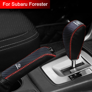 Car hand brake cover leather Car gear shift car accessories for Subaru Forester car decoration protective case