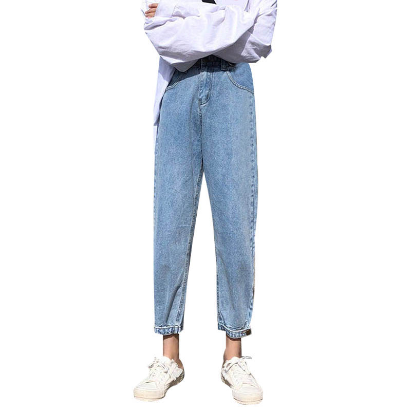 Vintage Women 2019 Loose Winter Jeans Women Casual High Waist Harem Pants Jeans Korean Style Female Trousers